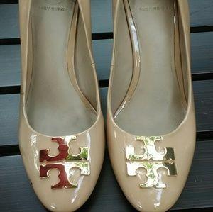 "Tory Burch 3""patent leather heels sz 6.5"